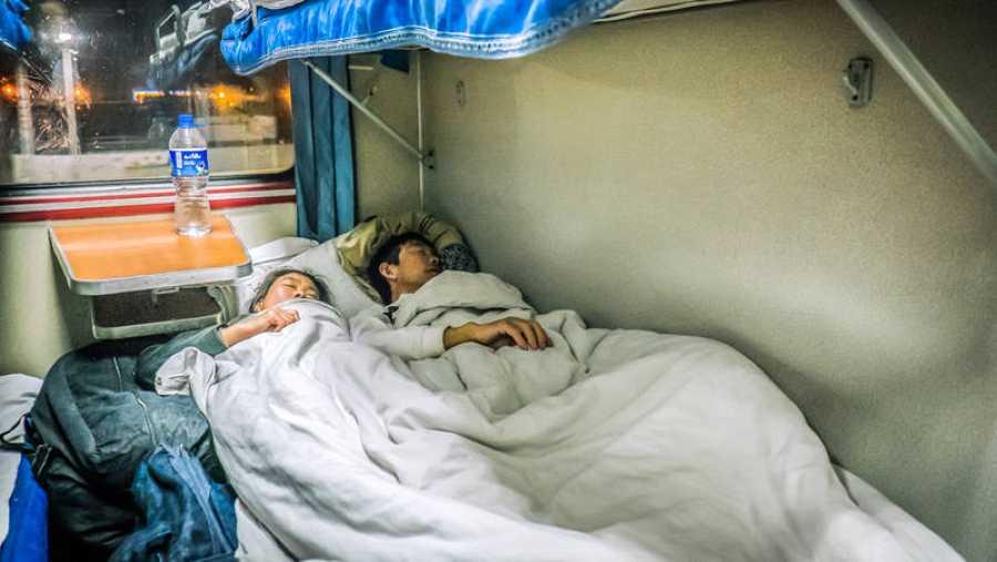 Durmiendo en el tren