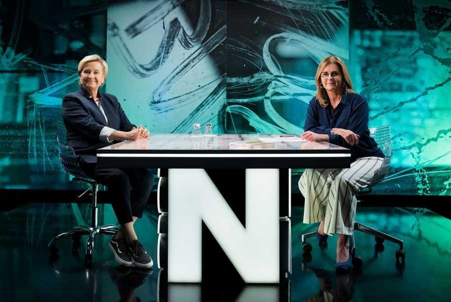 Inma Puig i Anna Cler al plató de 'Noms Propis'