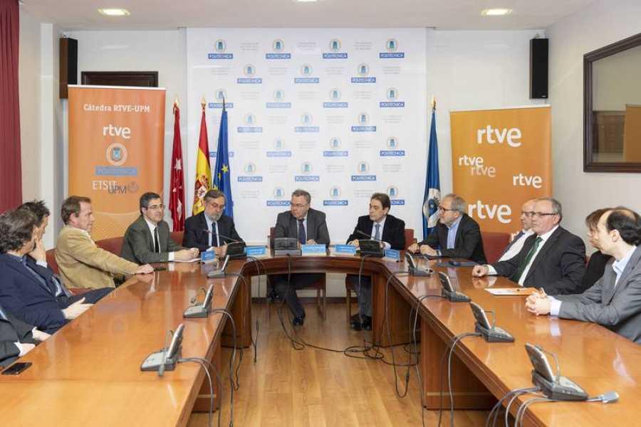Ayer se firmó la renovación de la catedra RTVE en la Politécnica