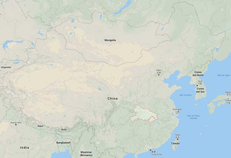 La provincia de Hubei, en China