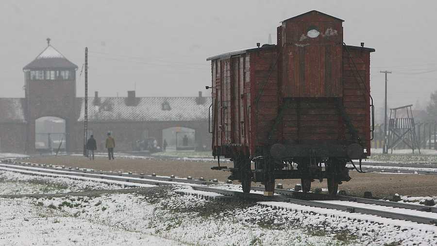 Los judíos llegaban hasta Auschwitz-Birkenau en vagones de ganado, en condiciones deplorables.