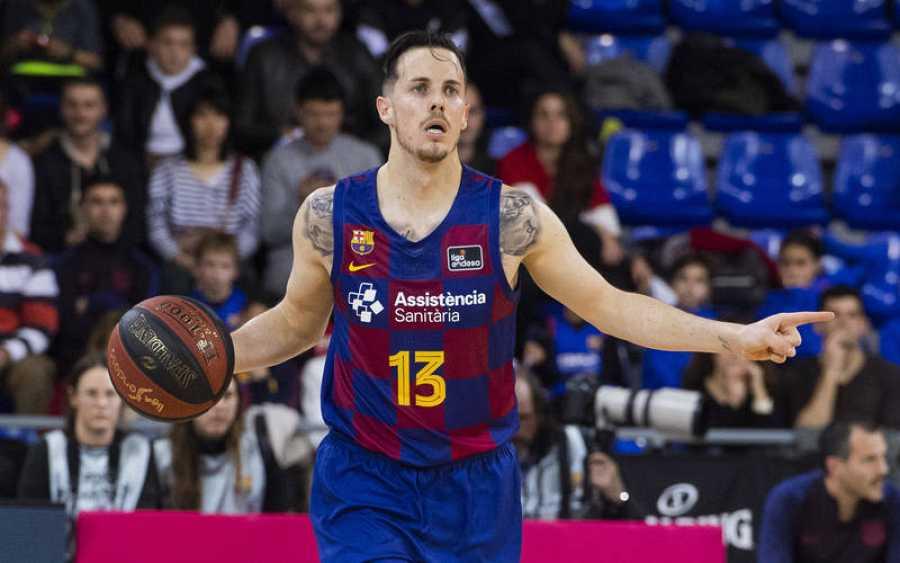 El base francés Thomas Heurtel, en un momento del Barça - Betis.