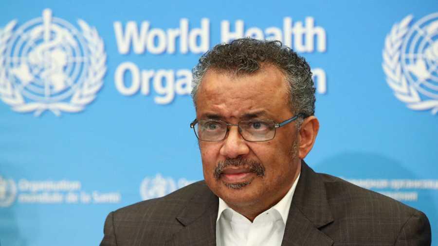 El director general de la OMS, Tedros Adhanom Ghebreyesus, durante el anuncio de la declaración de emergencia sanitaria internacional.