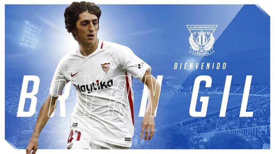 Bryan Gil, cedido por el Sevilla al Leganés hasta final de temporada