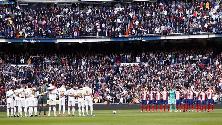 Minuto de silencio en el Santiago Bernabéu, en homenaje a Kobe BRyant, su hija Gianna y los otros siete ocupantes del helicóptero accidentado