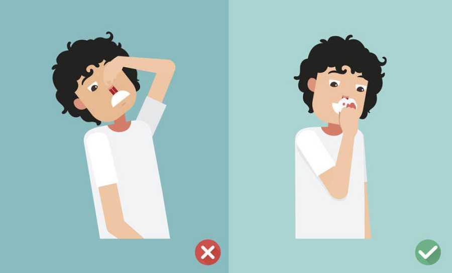 En caso de hemorragia nasal, mantener la cabeza hacia delante, no hacia atrás.
