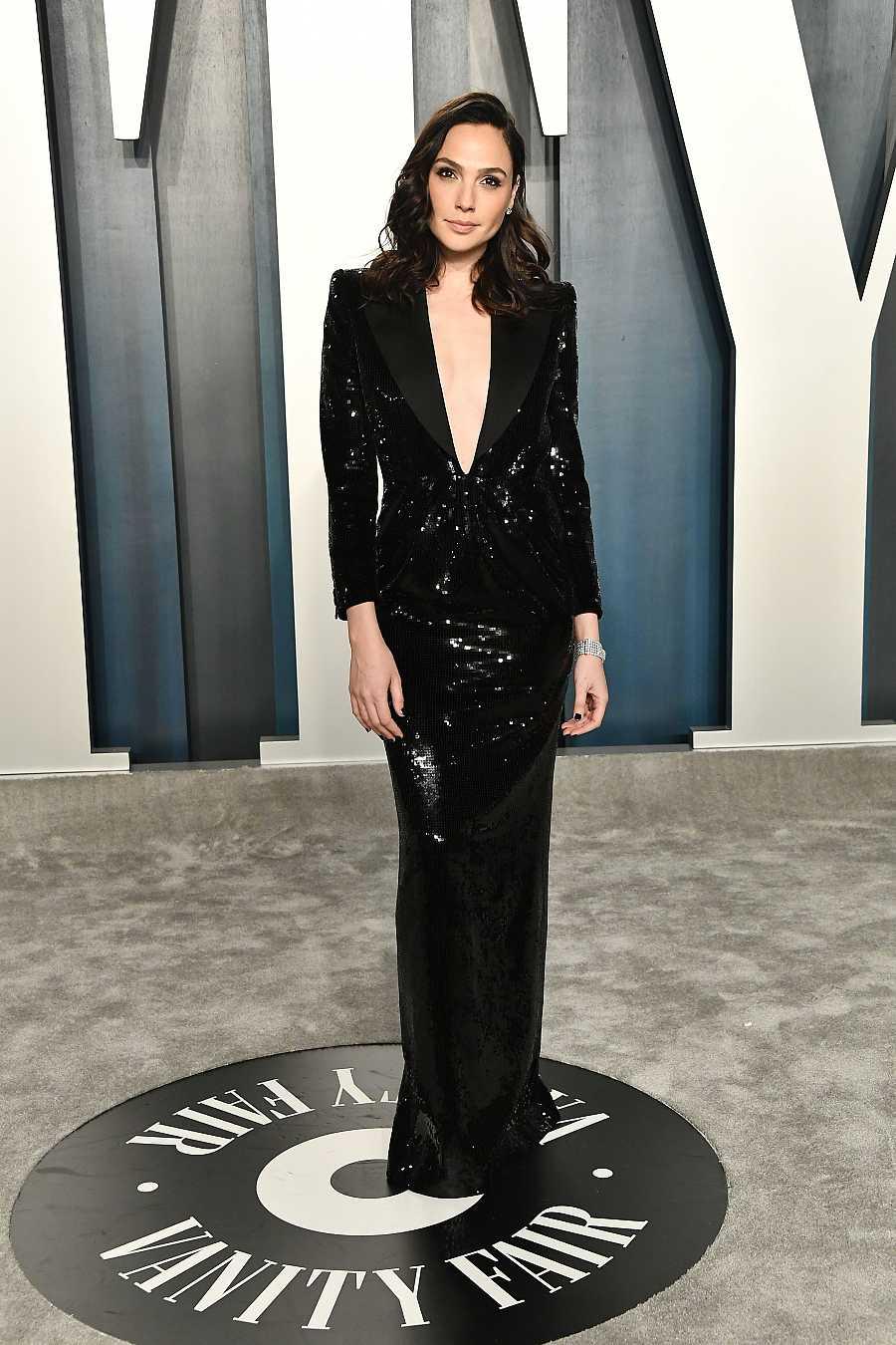 Gal Gadot en la fiesta Vanity Fair de los Oscar 2020