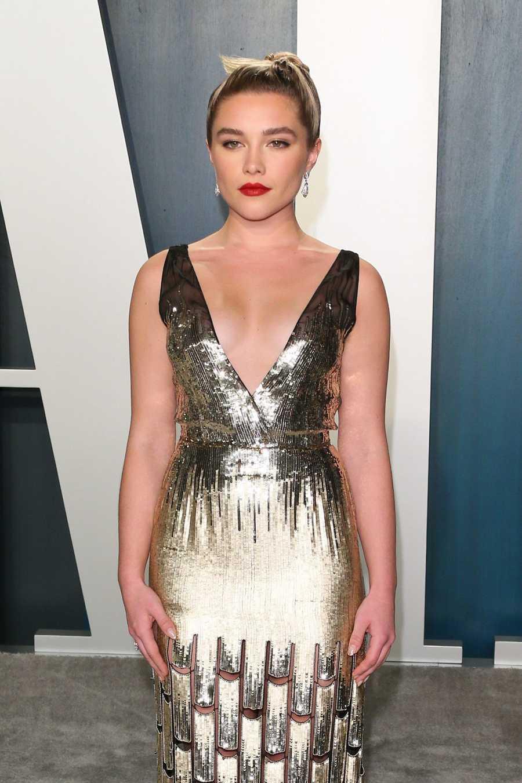 Florence Pugh en la fiesta Vanity Fair de los Premios Oscar
