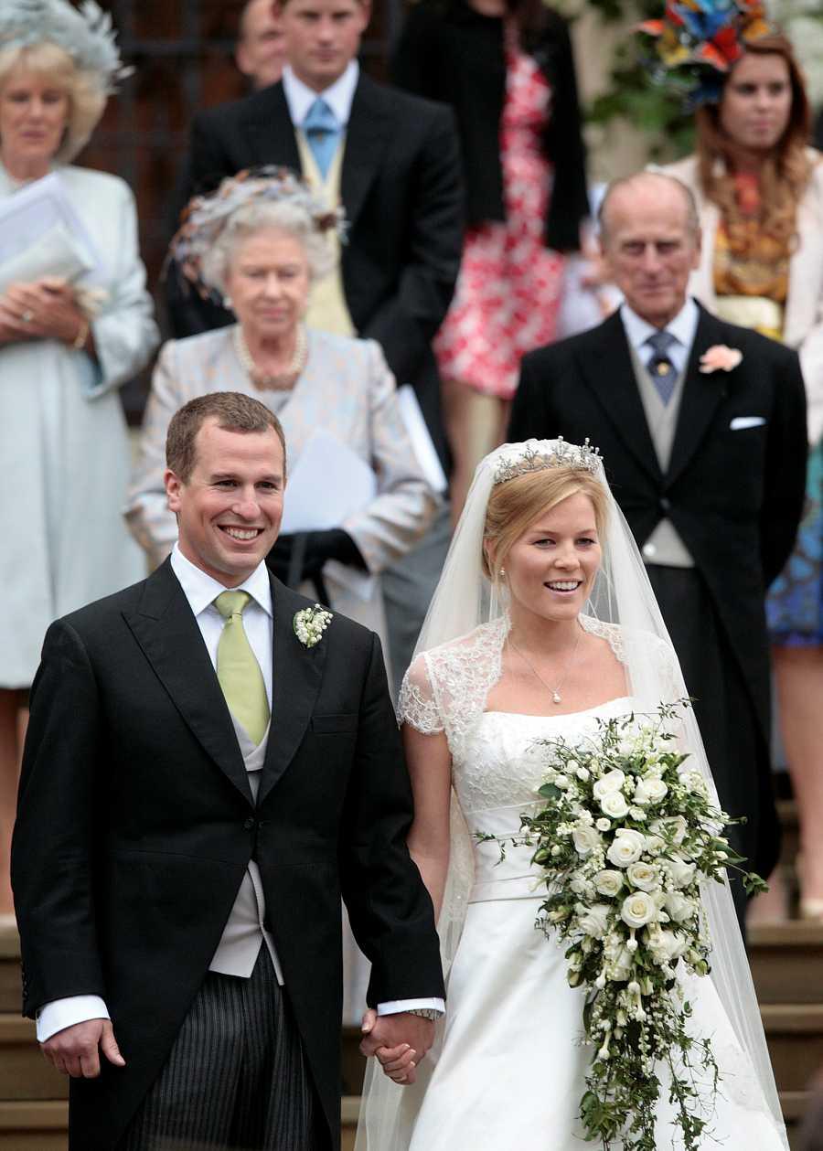 Peter Phillips y Autumn contrajeron matrimonio en el Castillo de Windsor en 2008