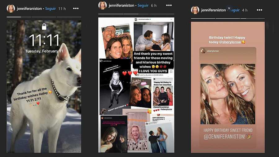 Jennifer Aniston agradece en redes sociales las felicitaciones que ha recibido por su cumpleaños