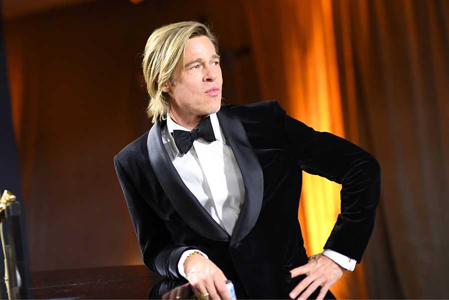 Brad Pitt en la gala de los Oscar 2020