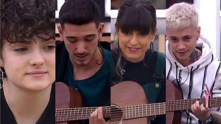 Anne, Bruno, Maialen y Hugo sacarán una canción propia mientras están en OT