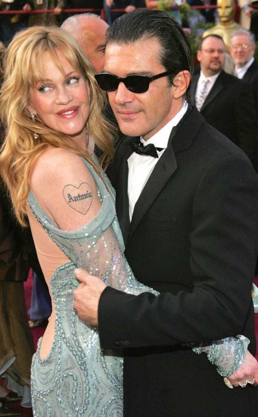 Melanie Griffith junto a Antonio Banderas
