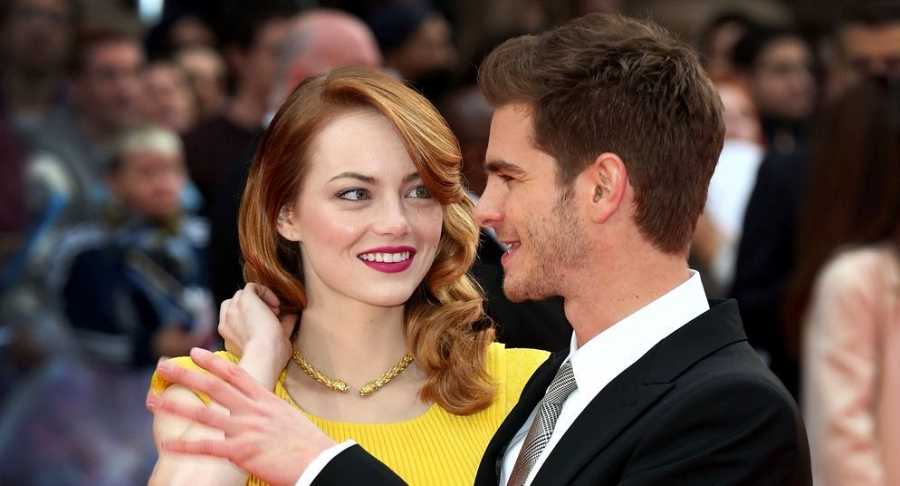 Emma Stone y Andrew Garfield en la premiere de 'The Amazing Spider-Man 2'