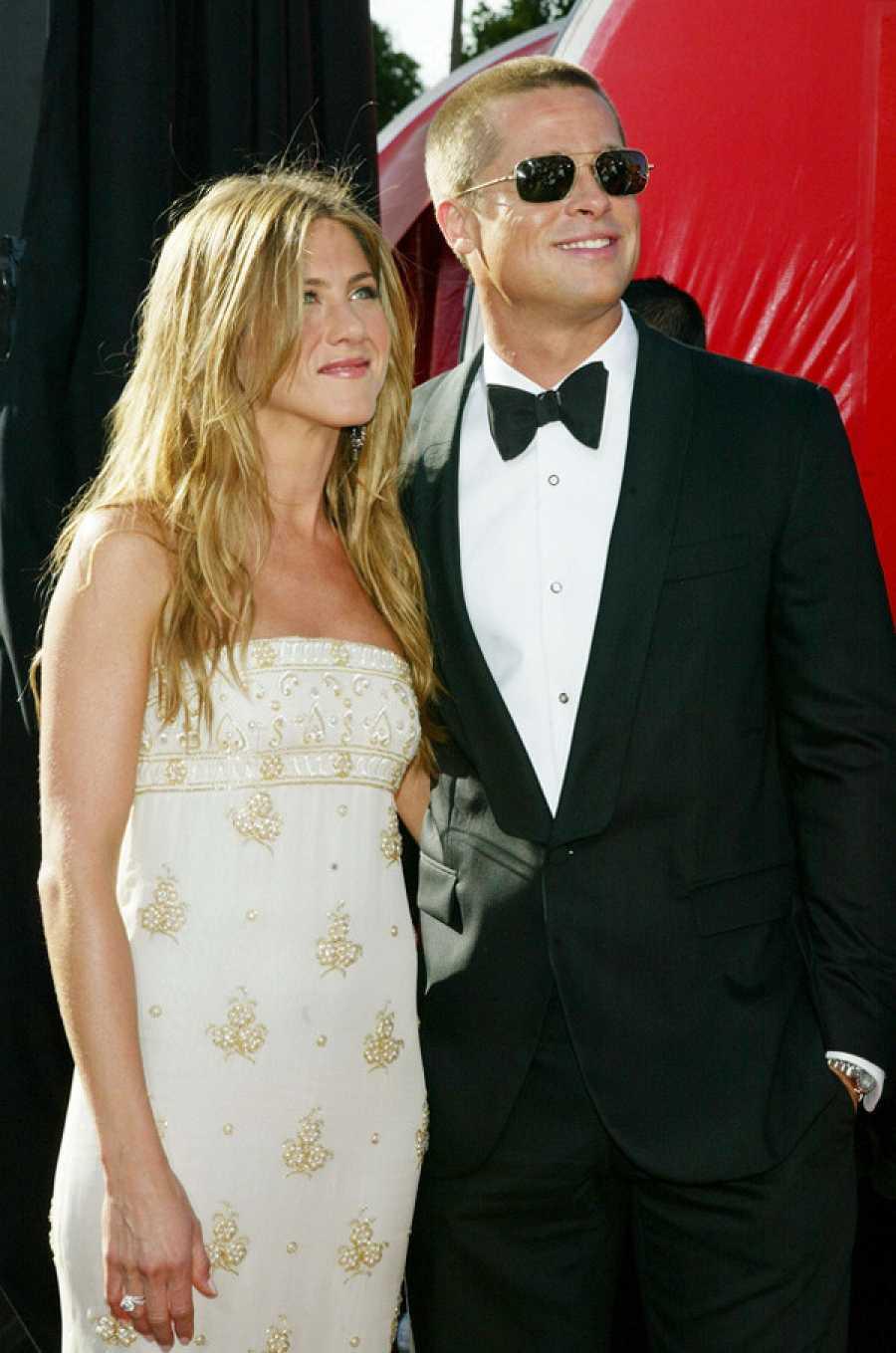 Jennifer Aniston y Brad Pitt juntos en la alfombra roja