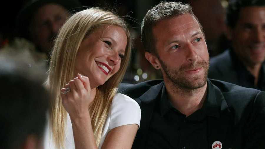 Gwyneth Paltrow y su entonces pareja Chris Martin