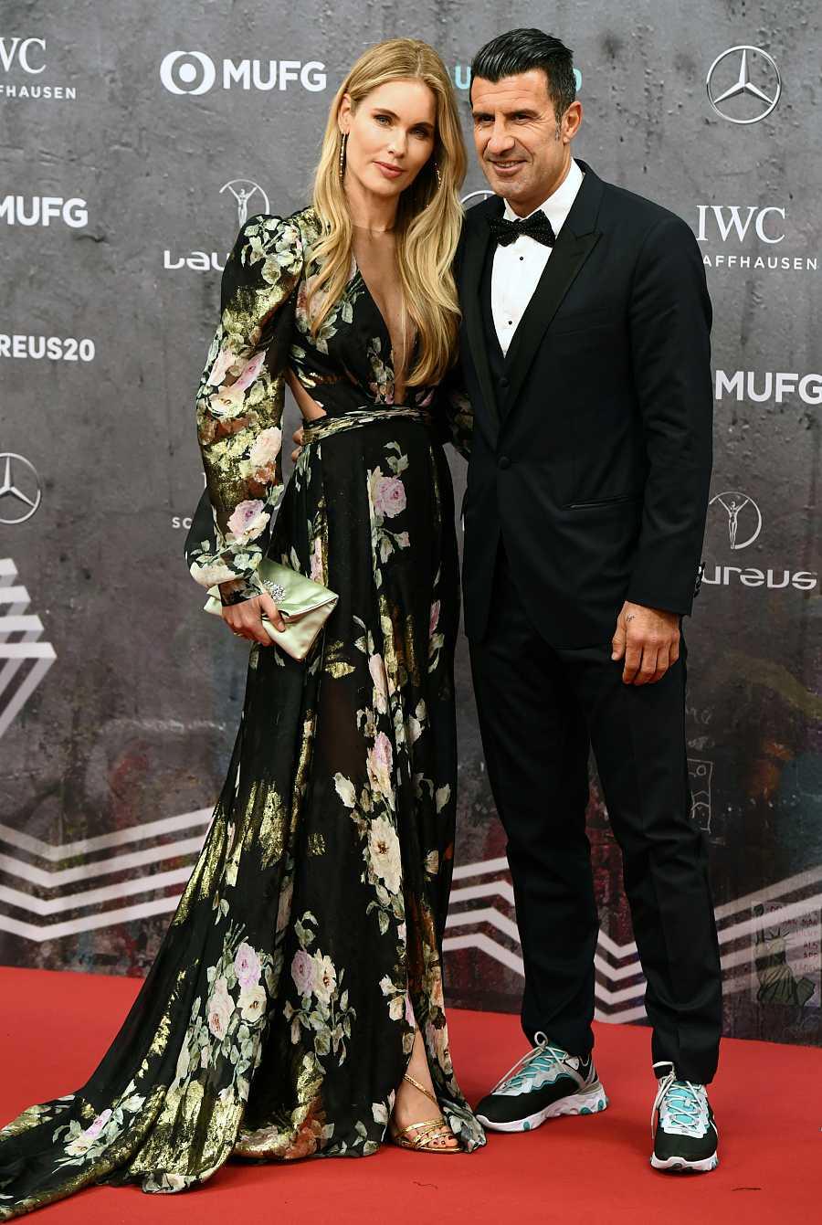 Luis Figo y Helen Svedin en los Premios Laureus