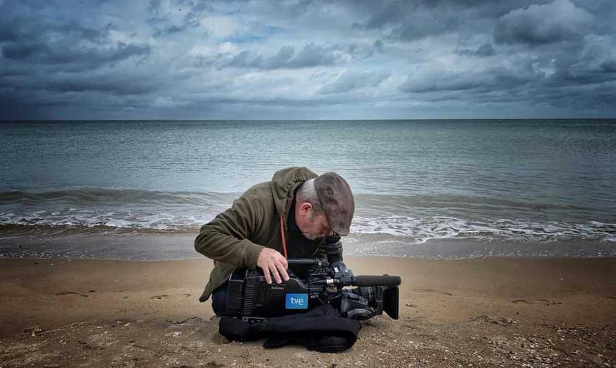 Pedro Fernández Vara, el cámara en Normandia