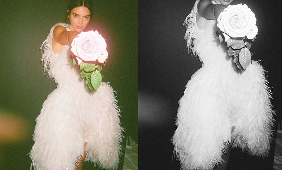 Kendall Jenner en el rodaje de una campaña de Burberry