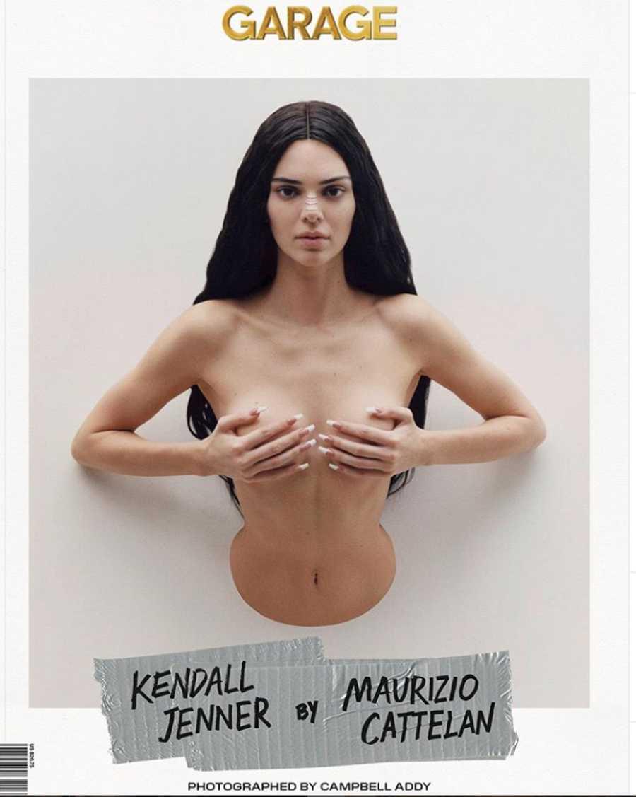 Kendall en la portada de Garage Magazine