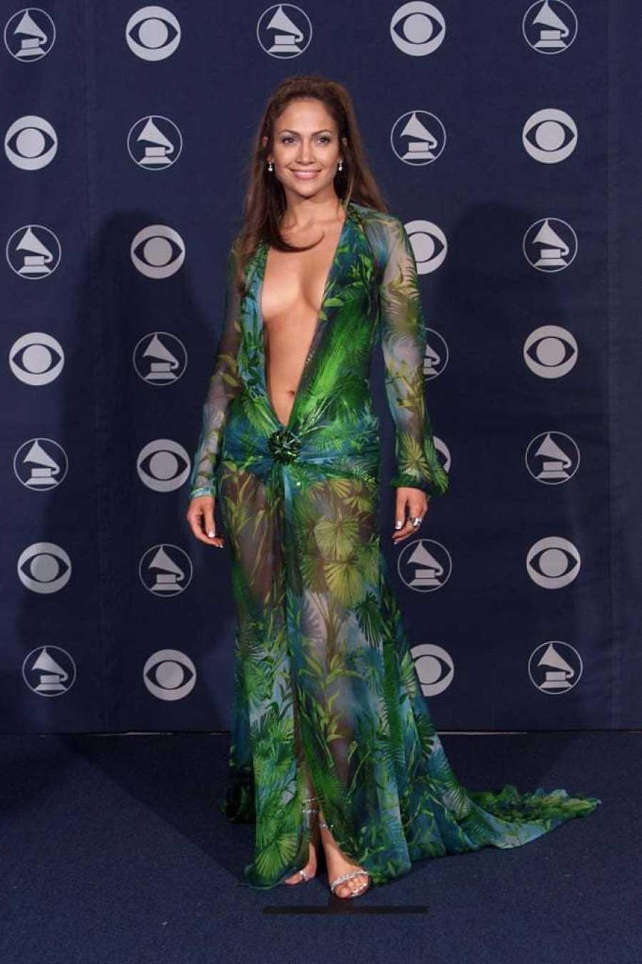 Jennifer López en la 42ª edición de los Grammy.