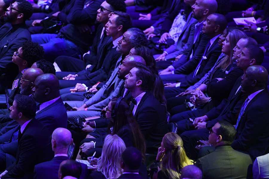 Pau Gasol en el homenaje a Kobe & Gianna Bryant