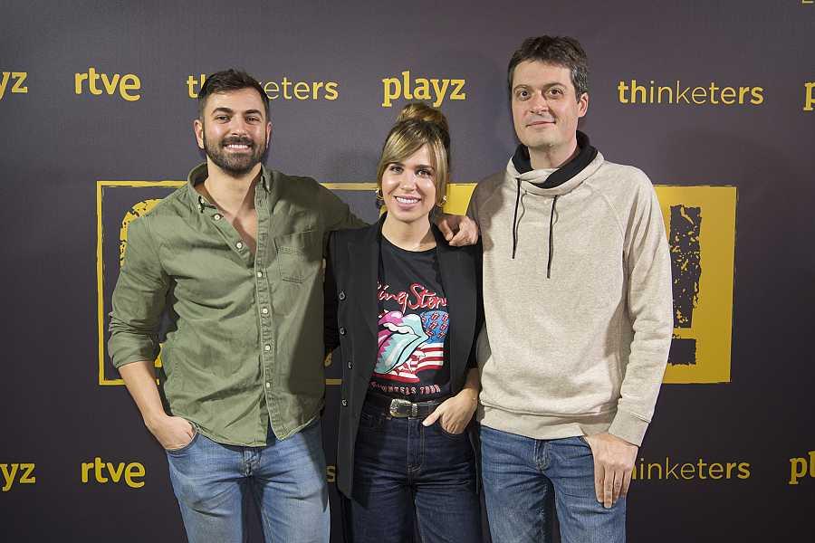 María Gómez, Modesto García y Manuel Bartual