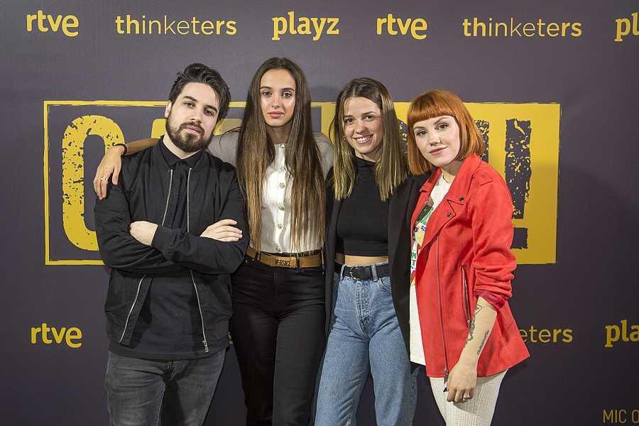 Manuel Huedo, Maria de Nati, Ana Jara y Angy