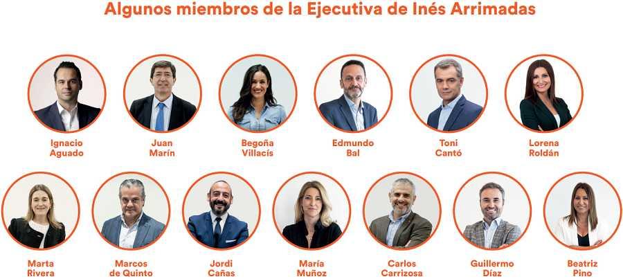 Algunos miembros de la candidatura de Arrimadas