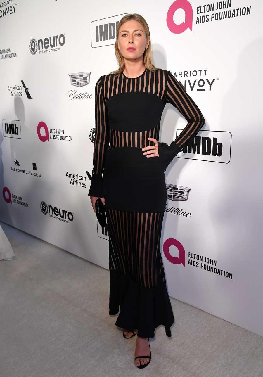 Maria Sharapova en la gala contra el SIDA organizada por el cantante Elthon John en febrero de 2019