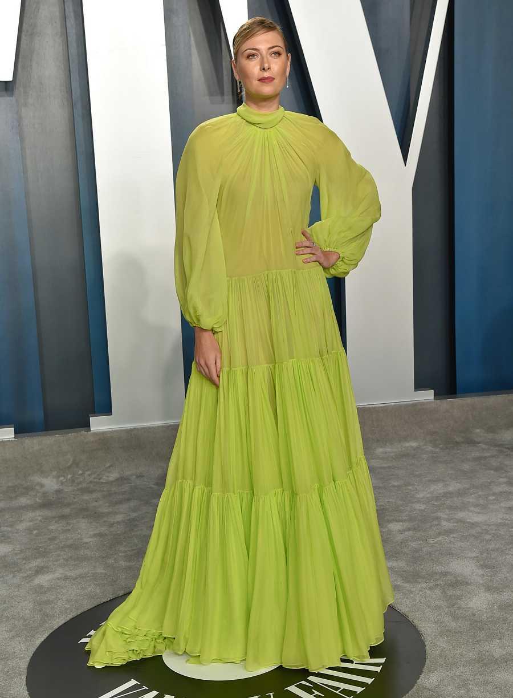 Maria Sharapova en la fiesta de los Oscar de Vanity Fair de 2020.