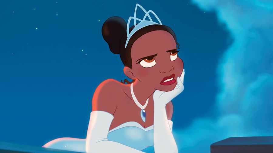 Tiana, princesa Disney de la película 'Tiana y el sapo' (2009).