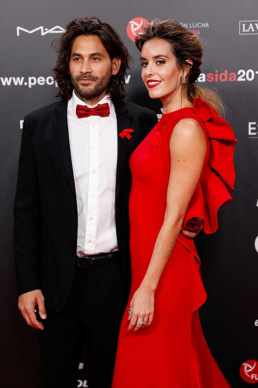 Ona Carbonell y Pablo Ibáñez en la gala contra el sida en noviembre