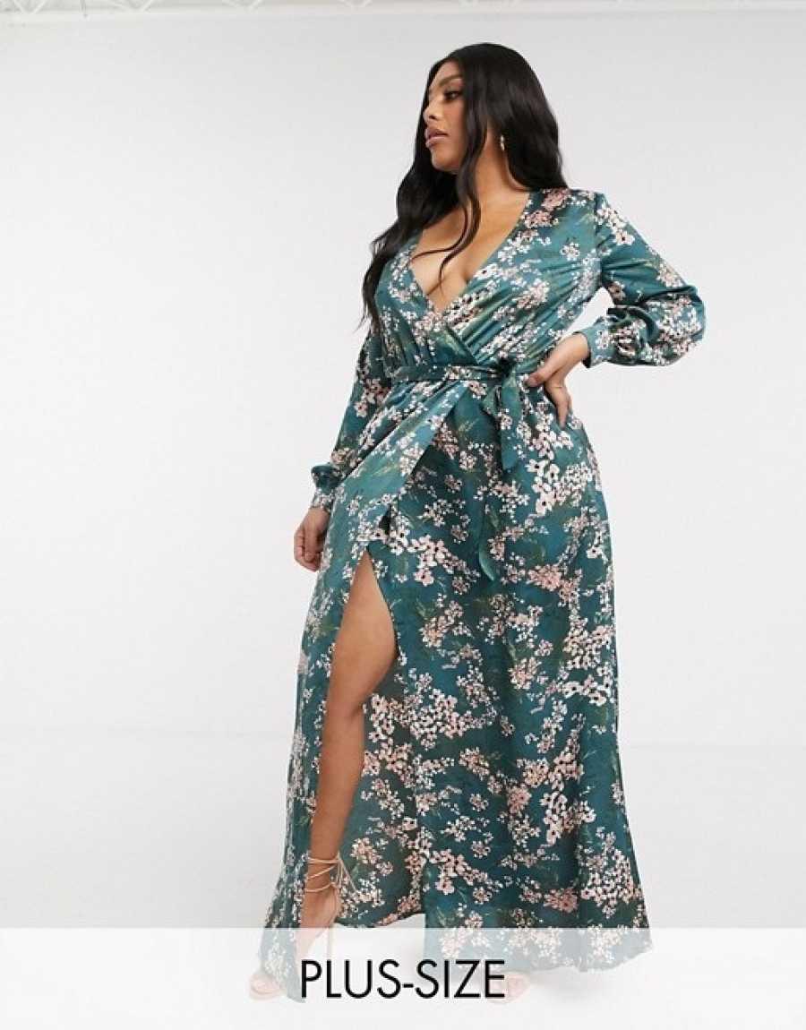 Vestido floral camisero de talla grande