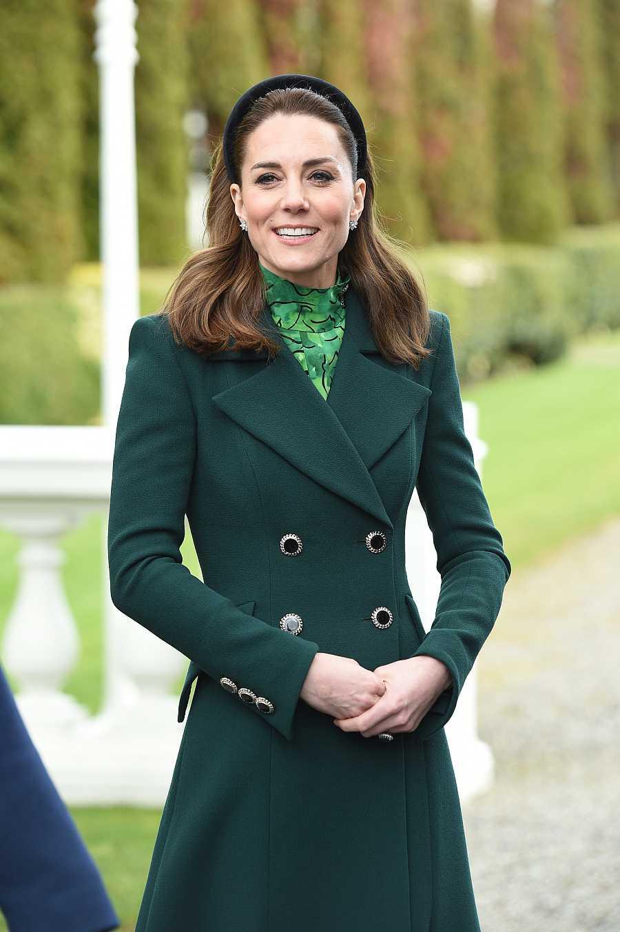 La duquesa de Cambridge ha apostadopor el color verde en su visita a Irlanda