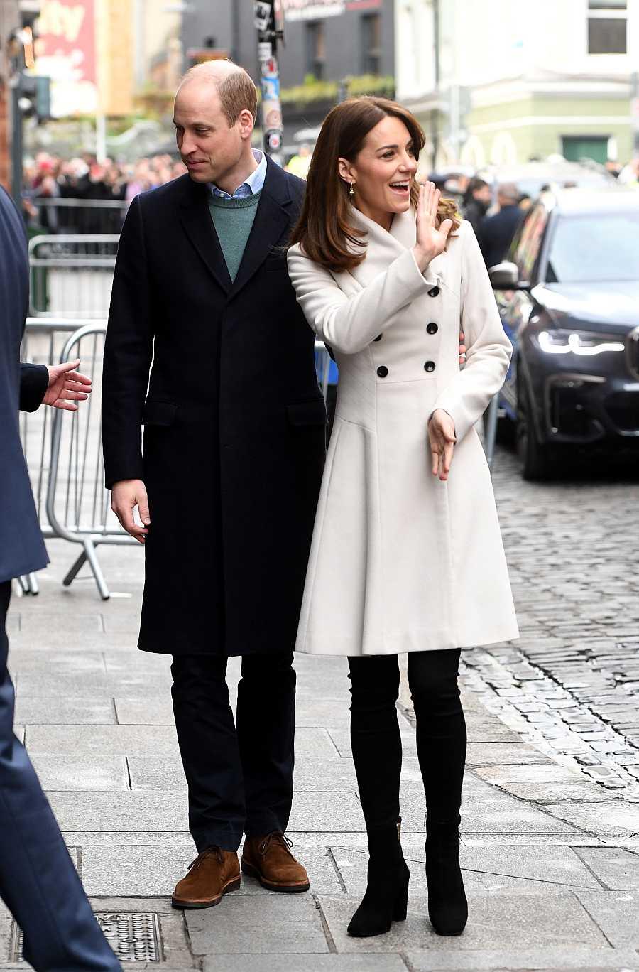 Los duques de Cambrigde en su visita a Irlanda este miércoles