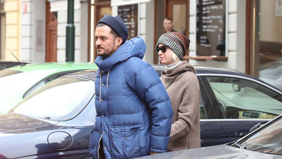Katy Perry y Orlando Bloom en Praga, 2020.