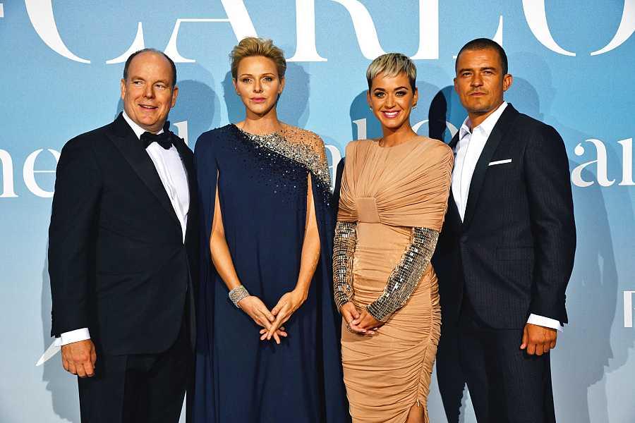 Katy Perry y Orlando Bloom con los Príncipes de Mónaco