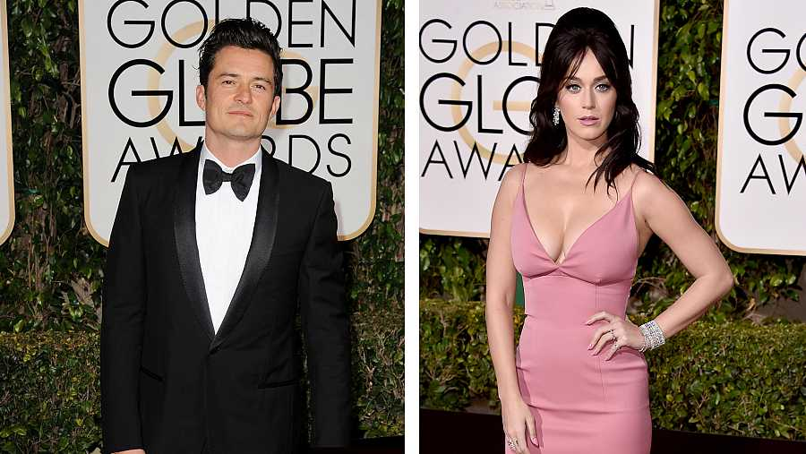 Orlando Bloom y Katy Perry en los Globos de Oro 2016