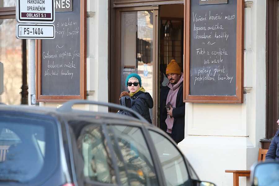 Katy Perry y Orlando Bloom en Praga, 2018.
