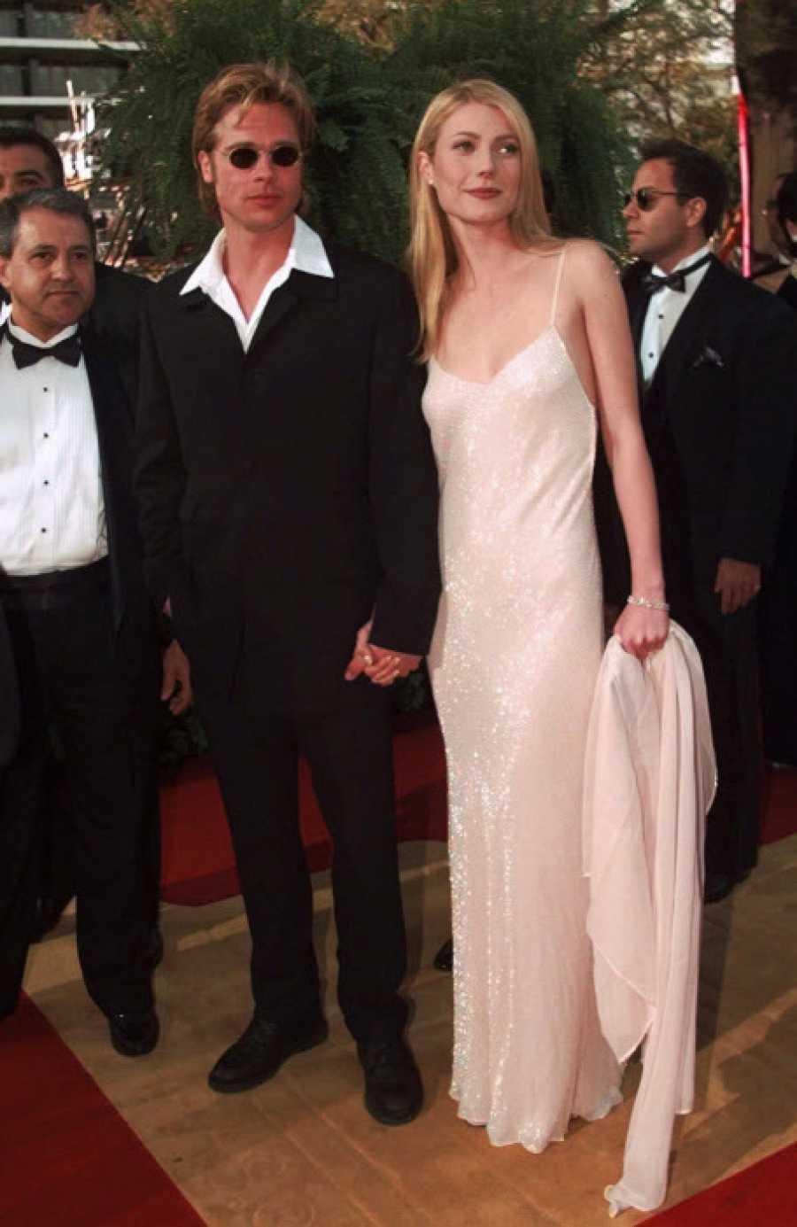 Brad Pitt y Gwyneth Paltrow en los Oscar de 1996