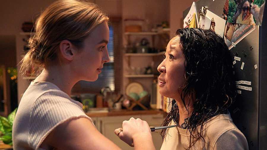 Villanelle (Jodie Comer) y Eve Polastri (Sandra Oh), protagonistas de 'Killing Eve'