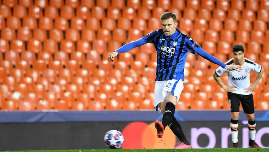 Josip Ilicic, delantero del Atalanta durante su segundo gol