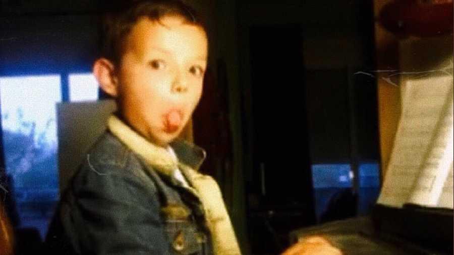 Flavio de OT 2020 cuando era pequeño