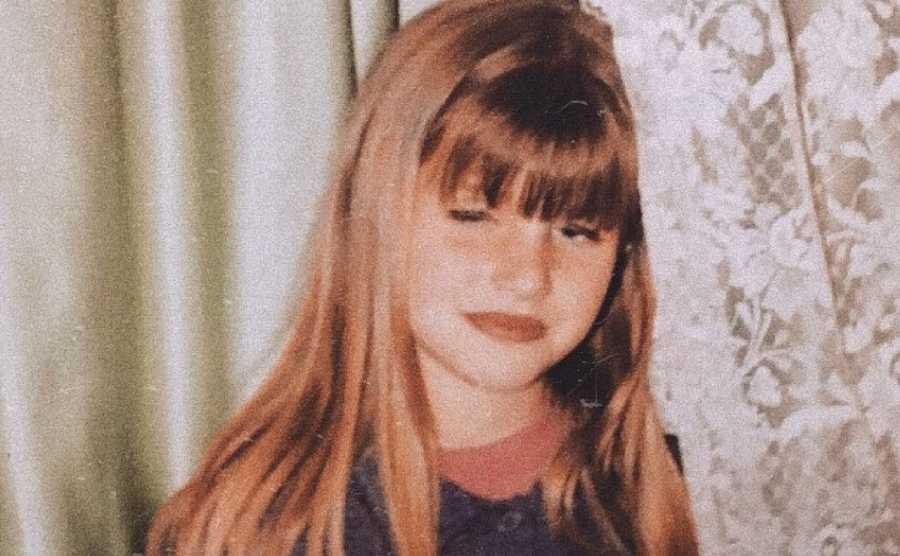 Samantha de OT 2020 cuando era pequeña