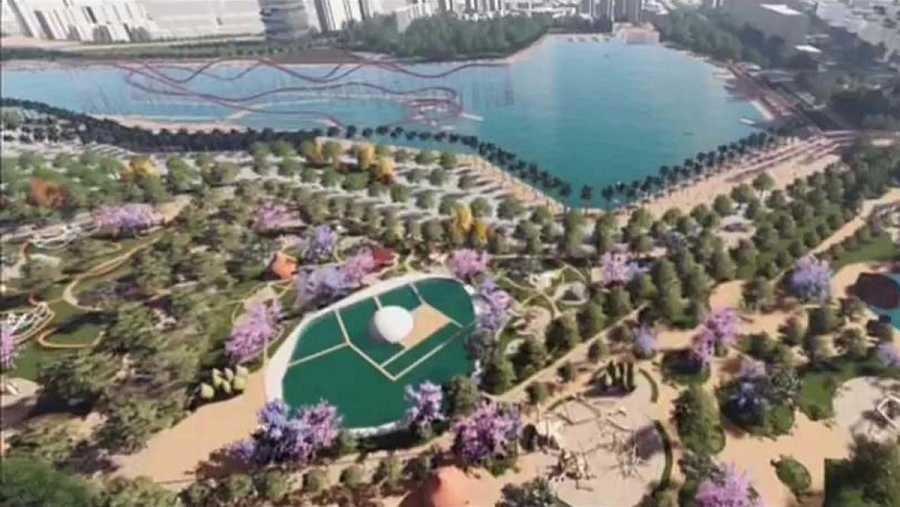 Proyecto de la futura ciudad de Shenzhen en China