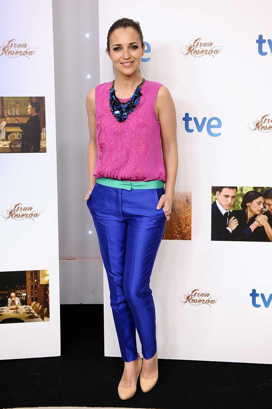Paula Echevarría en la presentación de la primera temporada de 'Gran reserva'