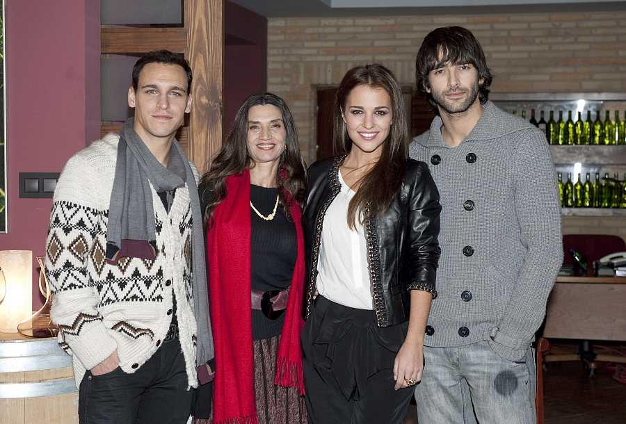 Ricard Sales, Ángela Molina, Paula Echevarría y Aitor Luna en la presentación de la segunda temporada de Gran Reserva