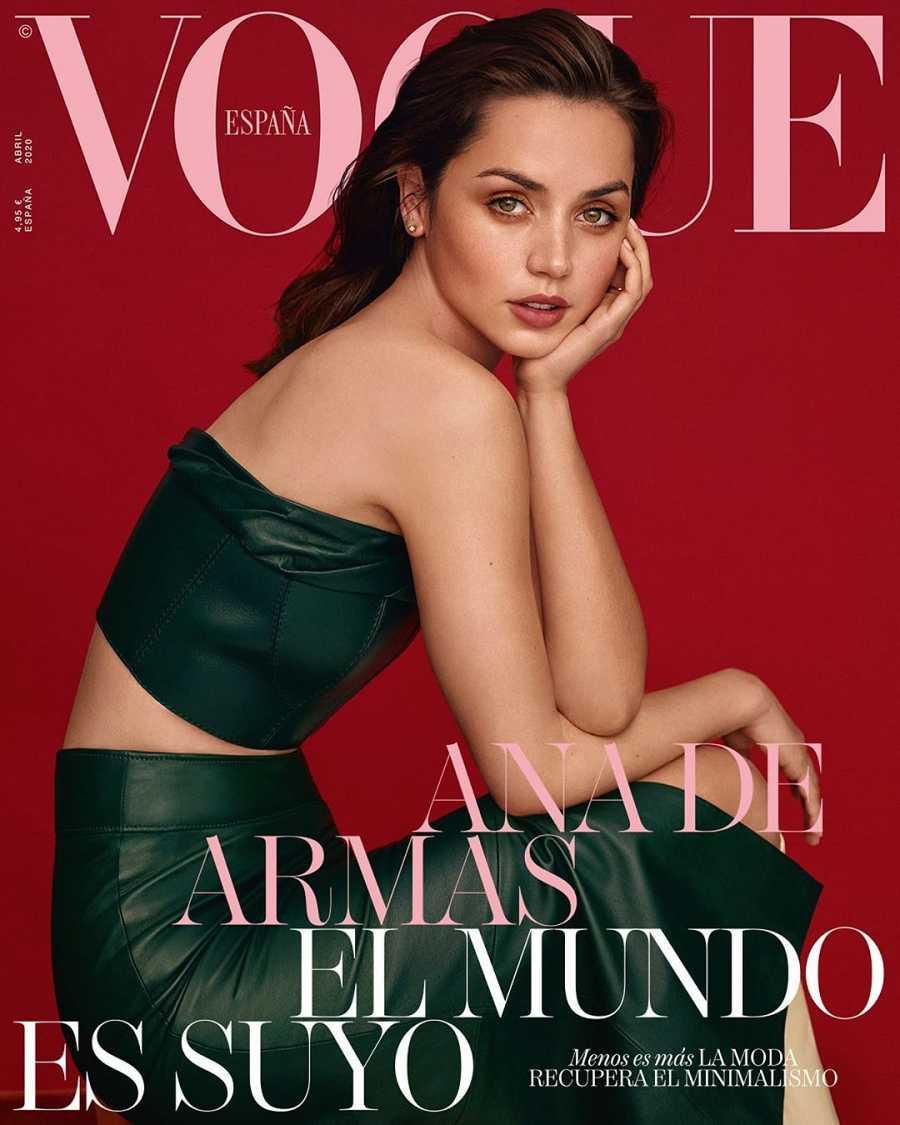 Ana de Armas en la portada de Vogue, número de abril 2020