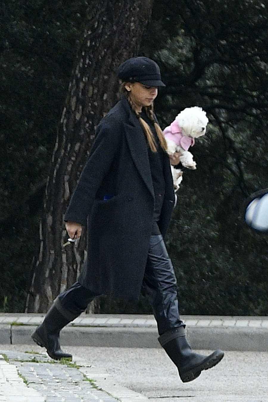 Chenoa cumple con el confinamiento y sale únicamente de casa para pasear a su perro